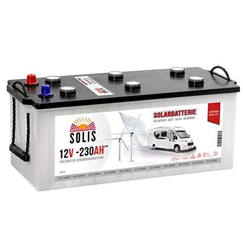 Solis Solarbatterie 230AH Antriebs Versorgungs Boots Wohnmobil Solar Caravan Batterie (230AH 12V)