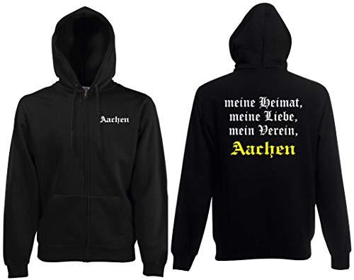 world-of-shirt / Aachen Herren Kapuzenjacke Meine Heimat, Mein Verein Schwarz S