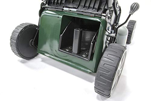 Webb Supreme WER18HP Hand Push 4 Wheel Petrol Rotary Lawnmower with 7 Cutting Heights, 46cm Cutting Width and 60L Collection Bag