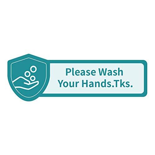Tianfu Warnschild zur Prävention, 24,9 x 8,3 cm, Keep Your Distance Social Distancing, Please Use Hand Desinfektionsmittel-Schild, Welcome Shop Schild für Restaurant etc. Inhaltsangabe, beige