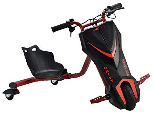 Umit Drift Trike 360 Cuadro Regulable Patinete Eléctrico, Niños, Negro, M