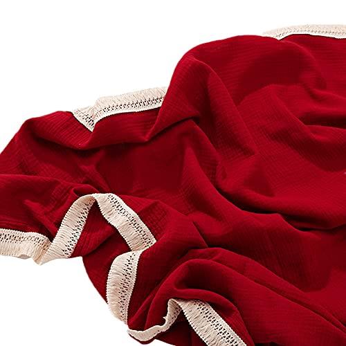 Manta de muselina para cochecito de bebé, 100% algodón, manta de muselina para bebé, ultra suave, transpirable, manta recién nacida para bebé (115 x 115 cm, BrulyWood)