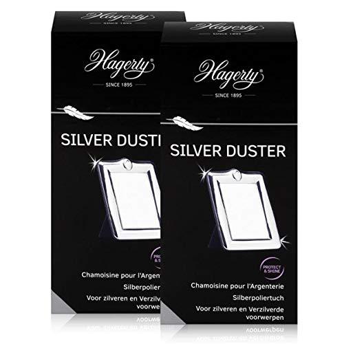 Hagerty Silver Duster - Baumwolltuch für Silber 36x55cm (2er Pack)