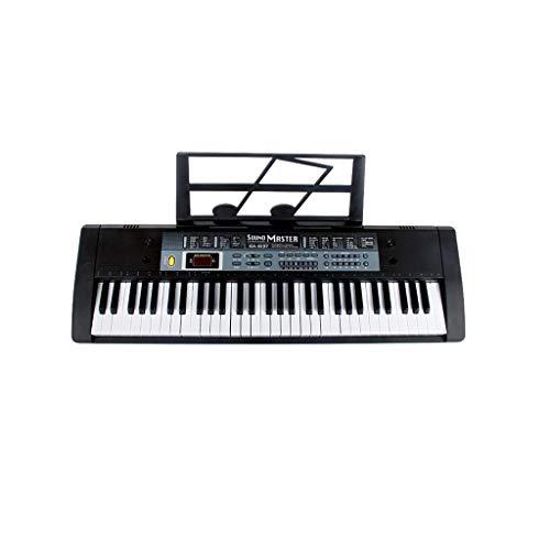 LIUFS-El teclado Teclado Inteligente Multifuncional Niños Adultos Principiantes Primeros Pasos Chicas 61 Teclas De Piano Inicio (color : NEGRO)