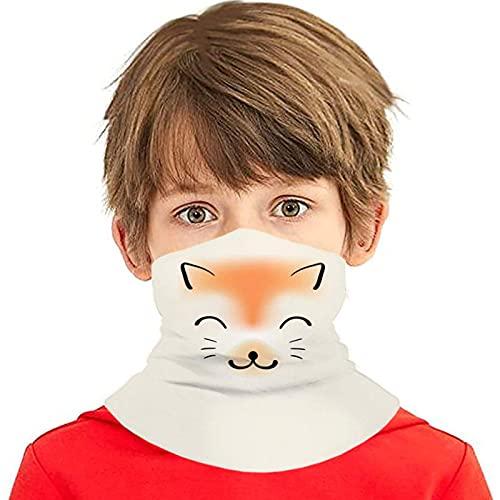 asdew987 Grinning Funny Face Coverings para niñas y niños lavables Bandanas cuello Polaina cabeza bufanda regalos para niños