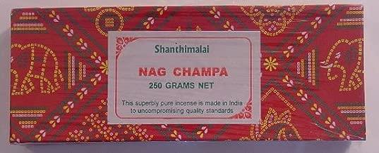 Shanthimalai Red Nag Champa - 250 Gram Box - Incense From India