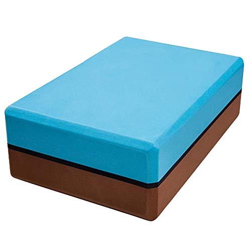 Sebasti Bloques de yoga de espuma EVA ladrillos de yoga de dos colores-azul se vende uno por uno Tamaño: 22,8 x 15,2 x 7,2 cm