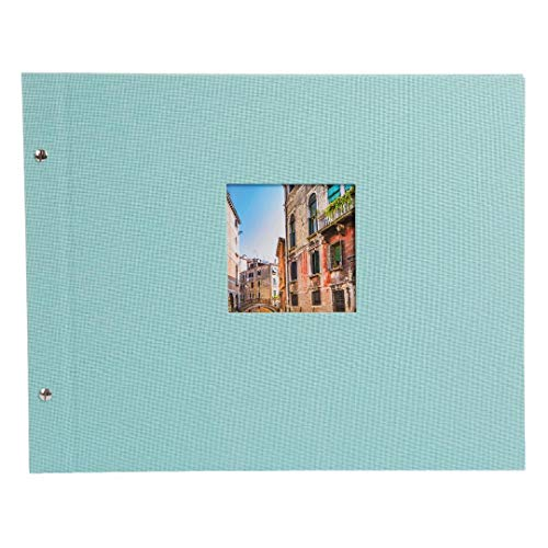 goldbuch Schraubalbum, Bella Vista, Mit Pergamin Trennblättern, 39 x 31 cm, 40 weiße Seiten, Leinen, Aqua, 28807