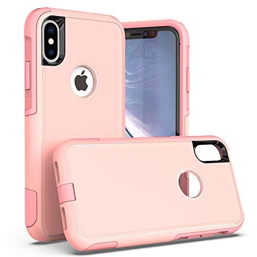 Krichit Pioneer Series Case for iPhone X Pioneer Case Heavy Duty Case iPhone Xs Case (Pioneer Pink)
