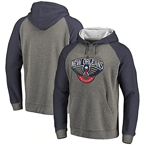 Baloncesto con Capucha Pullover Camisetas NBA Casual Hoodies,Gris,3XL
