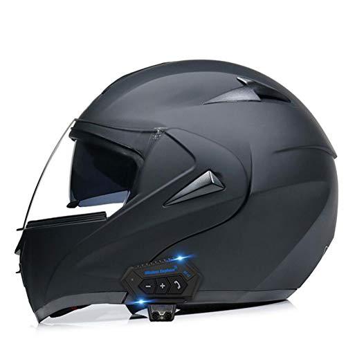 Helmets Motorrad Integrierter Bluetooth-Helm ECE DOT Genehmigt Motorrad Full Face Klapphelm Motorradhelm Mit Anti-Fog-Doppelscheib