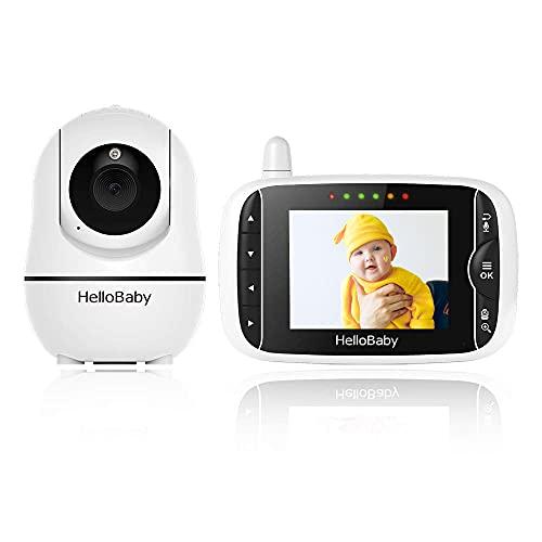 Baby Monitor Videocamera Bambini Babyphone Schermo LCD 3.2'' Touch VOX Audio Bidirezionale Visione Notturna 8 Ninnananne Temperatura Multi Angolazione