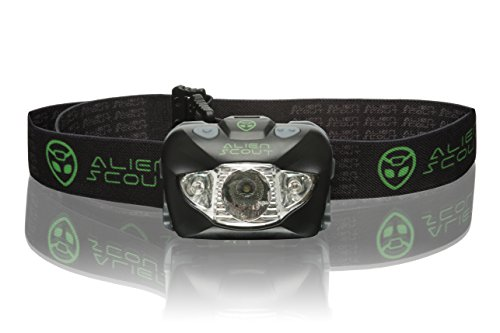 Head Torch by Alien Scout - High-End, Professional, Shockproof and...