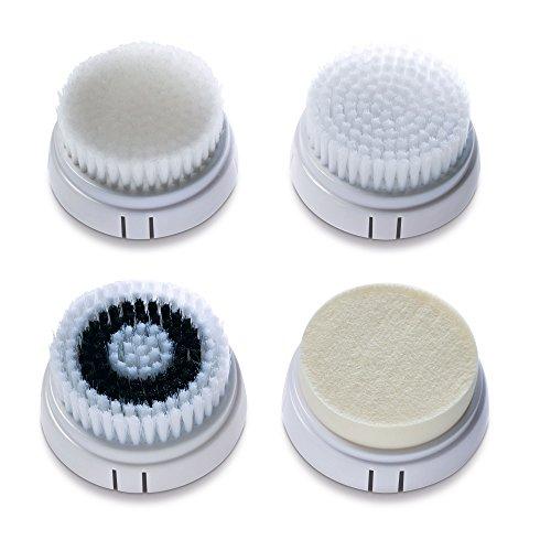 Imetec Bellissima Kit Testine di Ricambio Face Cleansing per Pelli Normali e Pelli Sensibili, 4 Diverse Testine per Detergere, Massaggiare, Levigare e Idratare La Pelle