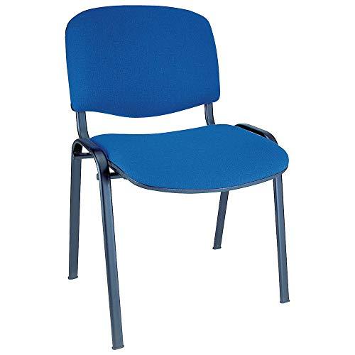 4x Silla de colectividades tapizada, ideal para academias, autoescuelas. Apilables. Color azul ⭐