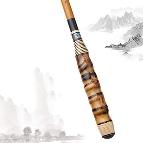Ca?a De Pescar,Spinning Carrete Y Carrete,Caña De Pescar con Mango De Bambú,99%...