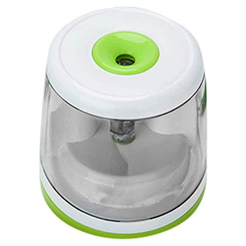 ZPHHSHI Pencil Sharpener - Electric Pencil Sharpener Blade to Fast Sharpen, Battery-Powered and Easy to Use for Classroom Supplies (6-8mm) in School (Green) (Color : Green)