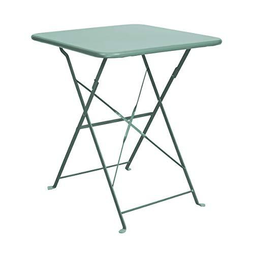 Butlers Daisy Jane Klapptisch - rosmarinfarbiger Tisch aus Eisen - für Balkon und Garten - klassicher Retro-Stil