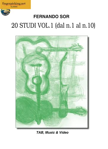 Fernando Sor: 20 Studi Vol. 1 (dal n. 1 al n. 10): Video on Line (Italiano, English, Français, Español, Deutsch) (Classica)