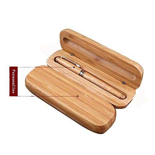 Personalisierter gravierter Kugelschreiber mit Holzetui und Geschenkbox - Individuell gravierter Holzstift mit Ihrem Namen, Business-Kugelschreiber Nachfüllbarer Stift Weihnachtsgeschenke zum Vatertag