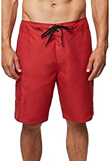 O'Neill Men's Santa Cruz Solid Boardshort Solid red 36 [並行輸入品]
