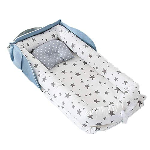 YYhkeby Foldable Portable Bionic Crib Bed, Detachable Baby Bed Backpack, Cotton Multifunction Newborn Removable Was. Jialele (Color : C)