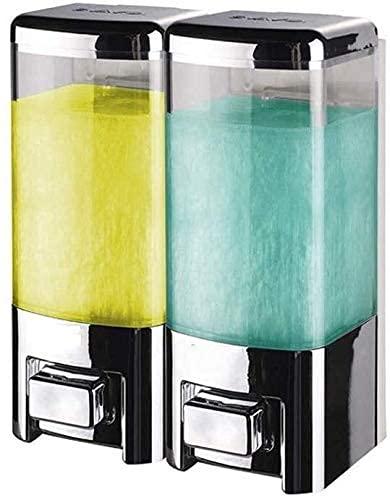 XHAEJ Jabón de pared para jabón de ducha para el hogar, desinfectante de manos, caja de baño (color de cromo, tamaño: 2 habitaciones)