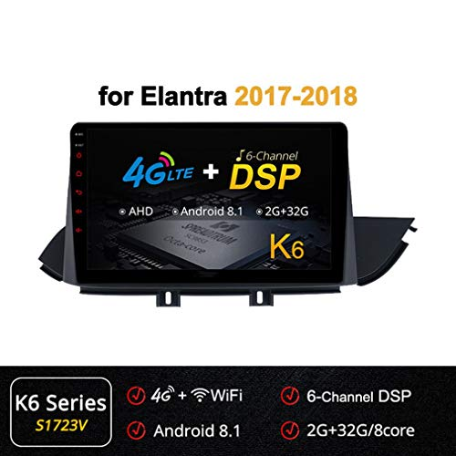 Best Price XBRMMM 10.1 Inch 8 Core Android Head Unit GPS Car Radio for Hyundai Elantra 2017-2018 wit...