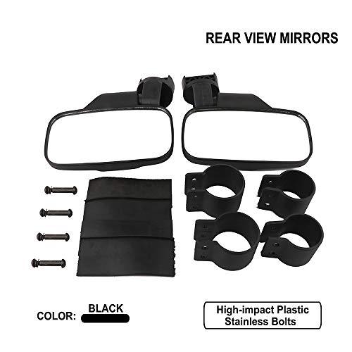 Côté Rétroviseur 4,4 cm - 5,1 cm Rouleau Cage Barre arrière Clear View avec large réglable en verre trempé Moveland UTV Off Road Accessoires pour Polaris RZR Yamaha Rhino Can-am Kawasaki UTV