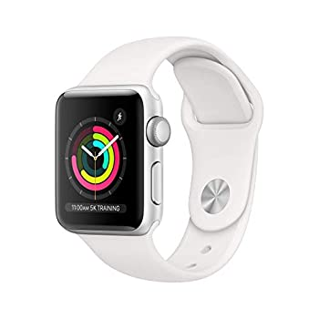 Refurbished  Apple Watch Series 3  GPS 38MM  - Silver Aluminum Case with White Sport Band