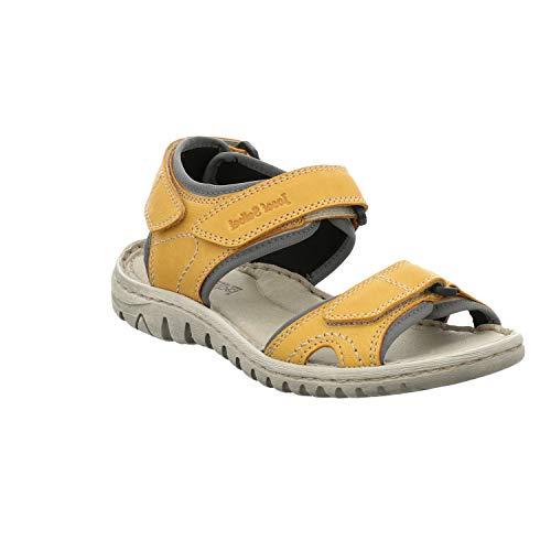 Josef Seibel Damen Sandalen Lucia 15, Frauen Trekking Sandalen, Outdoor-Sandale Sport-Sandale sommerschuh weibliche Lady,Safran-Kombi,40 EU / 6 UK
