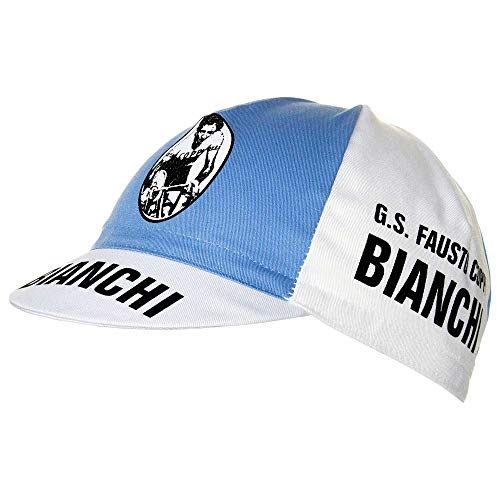 Retro cycle team cap Vintage fixie Bianchi Piaggio White by APIS