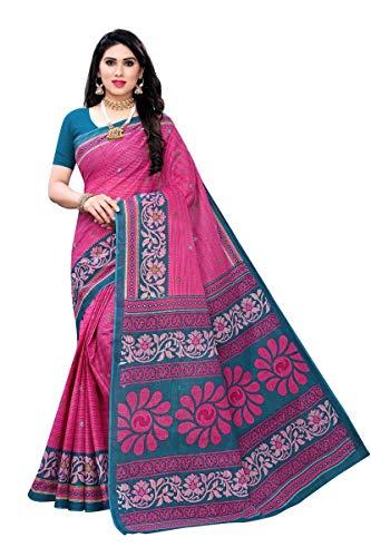 GoSriKi Without Blouse Piece Saree (Pure Cotton 100% 1045_1_Multicolored_Free)