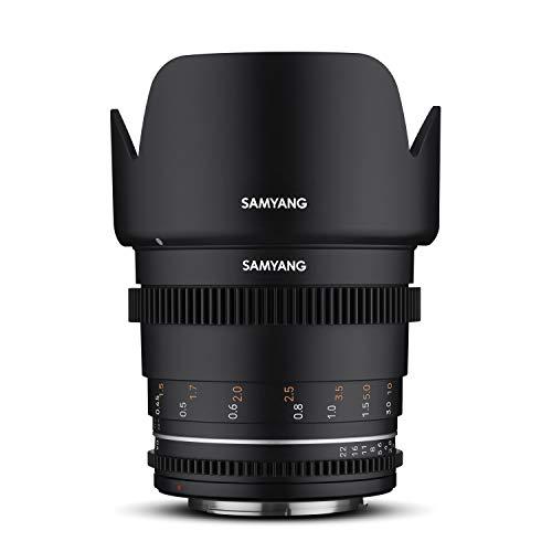 Samyang MF 50mm T1,5 VDSLR MK2 Canon RF – lichtstarkes T1,5 Normal Cine- und Video Objektiv für Canon RF Mount, 50 mm Festbrennweite, Follow Focus Zahnkränze Vollformat und APS-C, 8K Auflösung