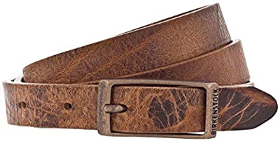 Birkenstock Women's Ohio Leather Belt (Cognac, 30)