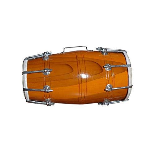 Blue Panther Handmade Wood Dholak Indian Folk Musical Instrument Drum Nuts N Bolt