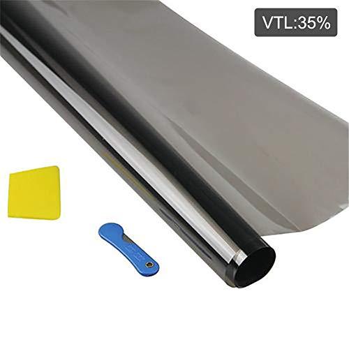 Zonwerende raamfolie, zwarte autoruit-tintfolie, explosieveilige anti-krasruit Glasisolatiestickers Solar UV-film Warmteblokkering
