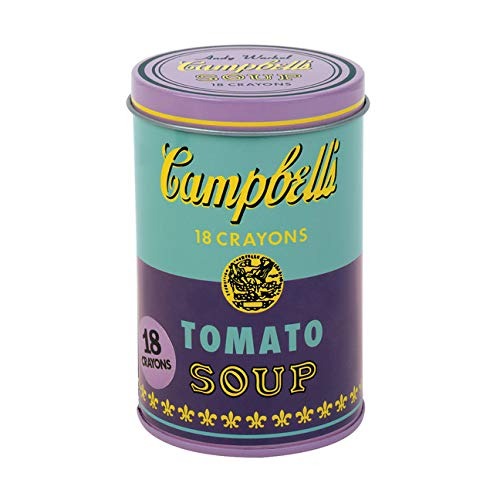 Mudpuppy - Andy Warhol - Set of Crayons - Campbell's Soup Cans (1965) - Violet and Green