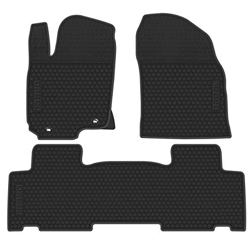 biosp Car Floor Mats Heavy Duty Mat replacement for Toyota RAV4 2014 2015 2016 2017 2018 Front and Rear Seat Rubber Floor Liners Liner Full Black Vehicle Carpet - All Weather Guard Odorless
