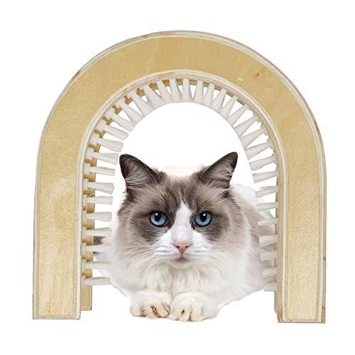 Petcraft Katzentür,Die Originale Innentür von Katzenklappe,Die einzige Katzentür mit Einer Reinigungsbürste.