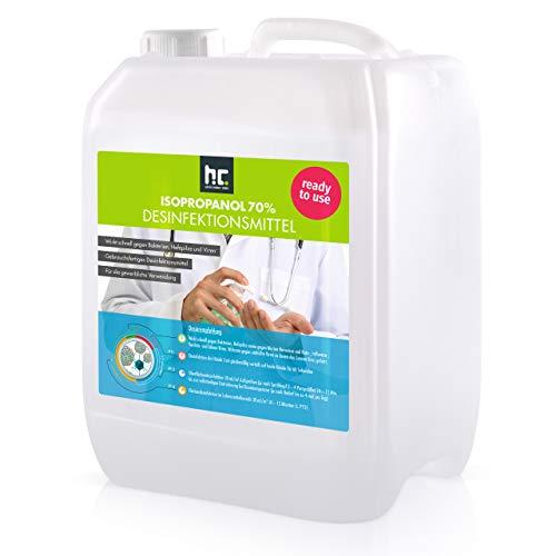 2 x 5 L (10 Liter) Zugelassenes Desinfektionsmittel für Hände & Flächen - anwendungsfertig - auch geeignet für Lebensmittelindustrie