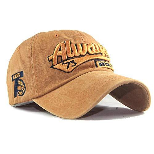 Baseball Cap Hat Snapback Washed Cotton 3D Embroidery Always 75 Letter Baseball Cap, Ladies Dad Hat, Men'S Bone Cap Adjustable Style6
