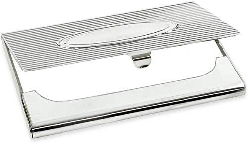 silberkanne Visitenkartenetui Medaillon 6x9 cm Silber Plated versilbert in Premium Verarbeitung