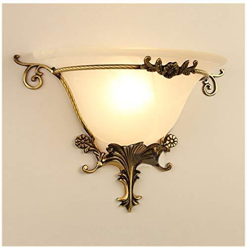 HYY-YY Luces de Pared Minimalista, Sala de Estar lámpara de Pared de América, Europa Cobre Retro del Arte de la Personalidad Creativa llevó la lámpara de Noche Dormitorio lámpara de Pared del Pasillo