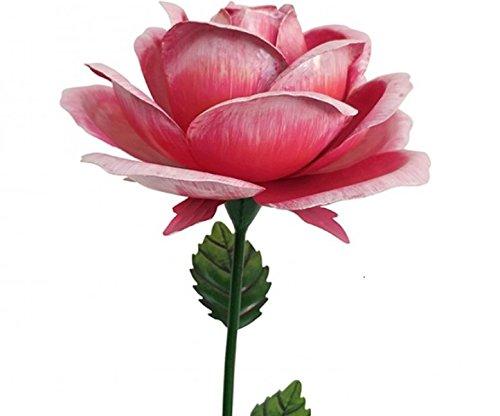 géant Rose Piquet de jardin en métal – Rose