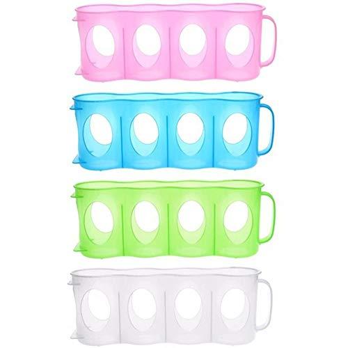 Soporte de almacenamiento para latas de cerveza o soda con 4 ranuras, estante para botellas, estante de cocina para frigorífico, ideal para bar, armario, barbacoa, fiesta