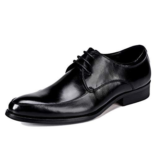 Lederen veterschoenen voor mannen zwart/Wijn Rode formele schoenen trouwjurk schoenen mode casual zakelijke schoenen
