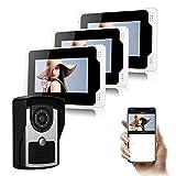 DOLA Videoportero WiFi, Sistema De Intercomunicación Timbre De Video con Pantalla De 7 Pulgadas Y Cámara De Visión Nocturna HD IR, Soporte Desbloqueo, Monitoreo, Grabación E Imagen,C