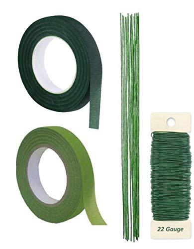 Floral Tape Self-Sealing, Dark Green (LightGreen/Green)