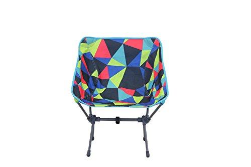 Portal Outdoor Electro Fusion Festival Chaise de Camping Pliable Unisexe résistant aux UV et Facile à Nettoyer – avec Sac de Rangement Gratuit – Taille Unique